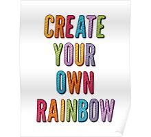 Create Your Own Rainbow Poster