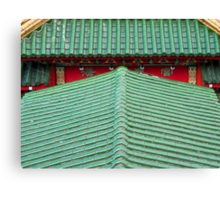 Chinese roof Canvas Print