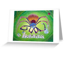 Spider Solitaire Greeting Card