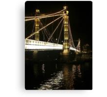 Albert Bridge, River Thames, London. Canvas Print