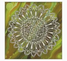 Mandala on the Green  Abstract background Kids Clothes