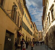 A street in Montepuliciano Italy by Moshe Cohen