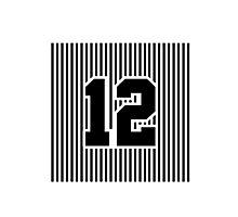 12th Man Simplistic Photographic Print