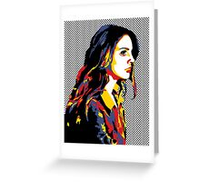 Pop Art Lana Del Rey Greeting Card