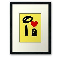 I Heart Beauty and The Beast Framed Print
