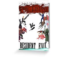 Final Fantasy VS Resident Evil Greeting Card