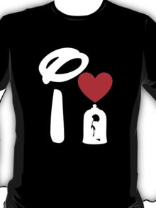 I Heart Beauty and The Beast (Inverted) T-Shirt