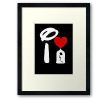 I Heart Beauty and The Beast (Inverted) Framed Print