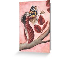 Red Beech Fairy Greeting Card