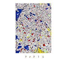 Paris - Mondrian Style Photographic Print