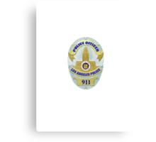 LAPD Detective Badge Canvas Print