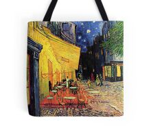 The Cafe Terrace on the Place du Forum, Arles, at Night,  Vincent van Gogh Tote Bag