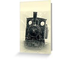 Old Steam Engine Greeting Card