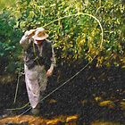 Cane On Brook by J Leslie  Booth