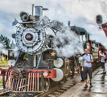 Steam at Track by Marilyn Cornwell