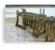 Low Tide At Fahan Pier..........................................Ireland Canvas Print