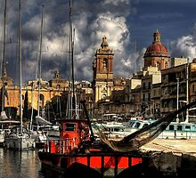 Vittoriosa Harbour Marina in Autumn.  by Anthony Vella
