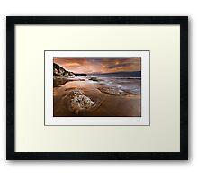 Portbradden Glow Framed Print