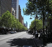 Swanston Street, Melbourne by Gregory John O'Flaherty