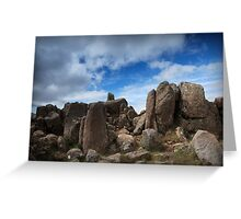 Mt Wellington Rock Scape Greeting Card