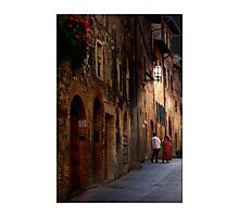 Night conversation in Tuscany Photographic Print