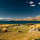 Scenic view of lake tekapo by peterwey