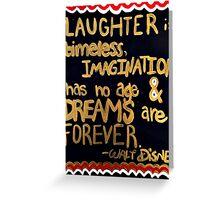 Walt Disney Dreams Greeting Card