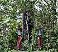 Vintage Gas Pumps by Patricia Montgomery