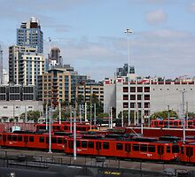 San Diego Trolley Station by Jan  Wall