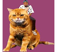 Tyler, the Creator riding cat Photographic Print