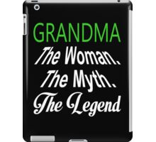 Grandma The Woman The Myth The Legend - TShirts & Hoodies iPad Case/Skin