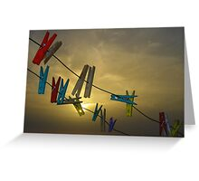 Clothe Pegs Greeting Card