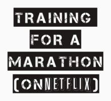 Training for a marathon (on netflix) Kids Clothes