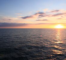 Sunset At Sea 03 by Chris Rollason