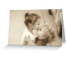 First Kiss Greeting Card