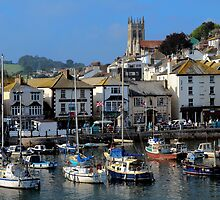 Brixham Inner-harbour, Devon by rodsfotos