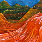 &quot;Mountainsl&quot; original nature painting on canvas by Michael Arnold