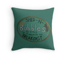 For Kitties and the people who love them BREAKFAST. Throw Pillow