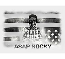 A$AP ROCKY BLACK\WHITE SKULL Photographic Print