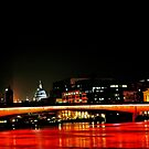 red london bridge by Amagoia  Akarregi