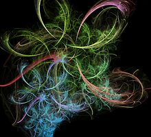 Abstract Art Space Flowers  by Vac1