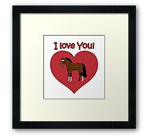 I love You! Framed Print