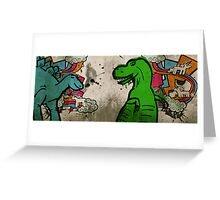 Steggie and Rex Greeting Card