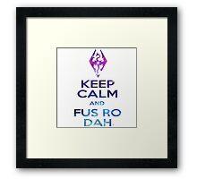 FUS RO DAH! Framed Print