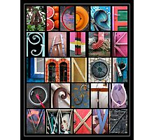 Coloured Alphabet Print Photographic Print