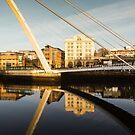 Gateshead Millennium Bridge Reflections by David Lewins