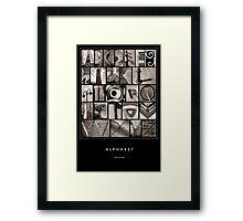 Alphabet Monochrome Poster Framed Print