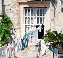 Dubrovnik laundry day by Angus Russell