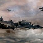 B-17 Flying Fortress - Almost Home 2 by © Steve H Clark Photography