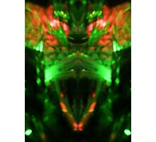 Angry Red Eyed Alien Photographic Print